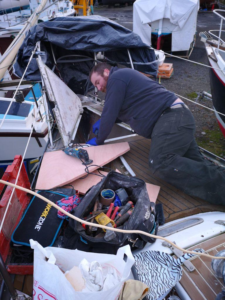 Fitting a new anchor locker bulkhead