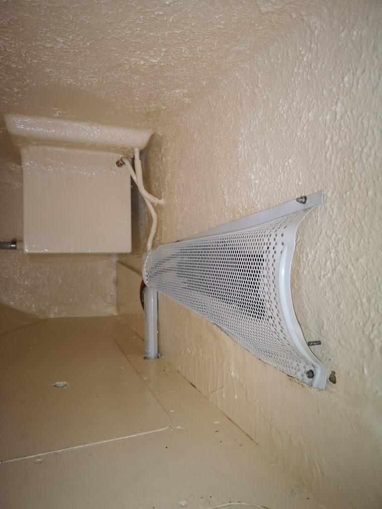 Gas locker and morse control cover in quarterberth